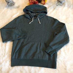 J. Crew Green Hooded Sweatshirt Sz M